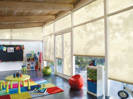 Honeycomb Shades in Children's Play Room