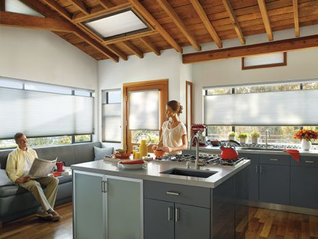 Honeycomb Shades in Kitchen