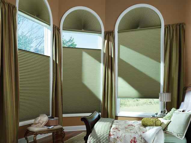 Honeycomb Shades in Bedroom