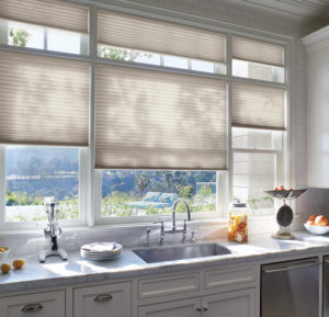 Window Treatments for the Kitchen, Shutters, Honeycomb Shades LA CA
