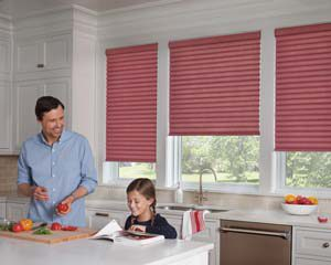 Sonnette™ Cellular Roller Shades in the Kitchen