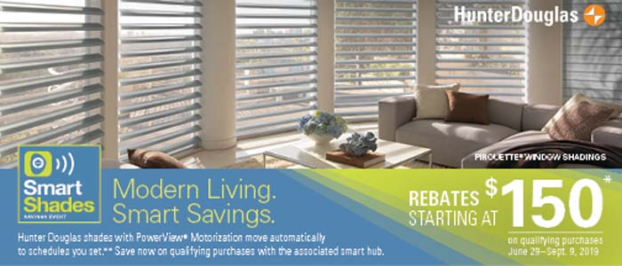 Hunter Douglas Sale - Smart Shades